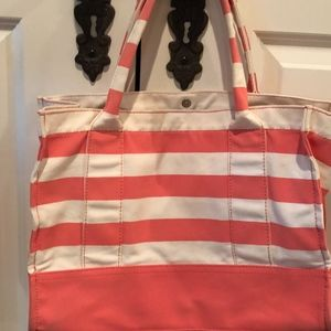J CREW BROADWALK CANVAS BEACH TOTE